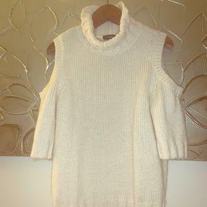EXPRESS cold-shoulder turtleneck sweater
